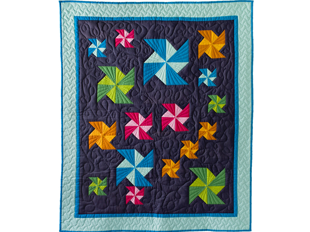 Indiana Amish Starburst Pinwheels Quilt Photo 1