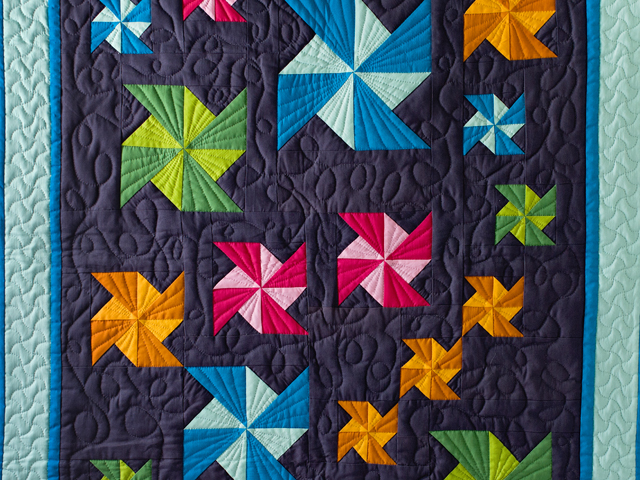 Indiana Amish Starburst Pinwheels Quilt Photo 2