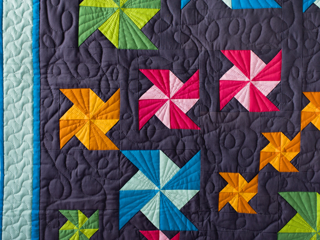 Indiana Amish Starburst Pinwheels Quilt Photo 3