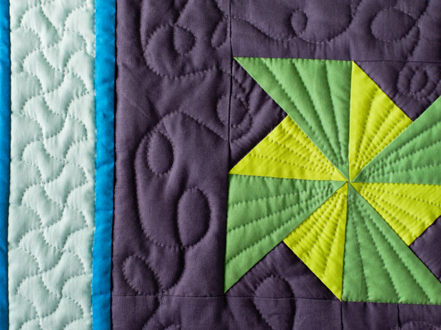 Indiana Amish Starburst Pinwheels Quilt Photo 4
