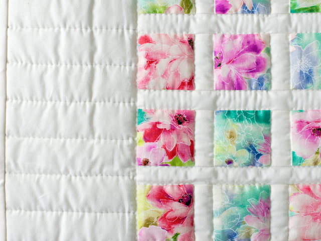 Watercolor Floral Delight Quilt Photo 5