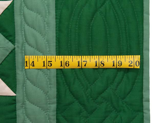 Indiana Amish Green and Cream Metathesis Quilt Photo 5