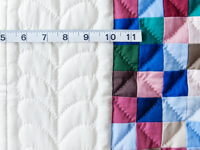 Indiana Amish Multi & Natural Hit or Miss Quilt Photo 5