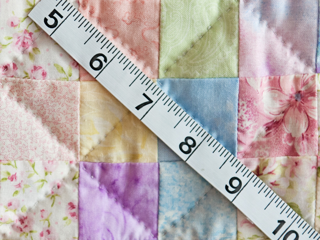 Pastel and White Hit or Miss Crib Quilt Photo 4