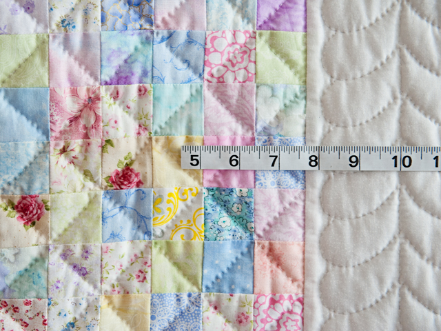 Pastel and White Hit or Miss Crib Quilt Photo 3