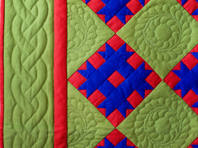 Indiana Amish Green, Blue and Red Susan