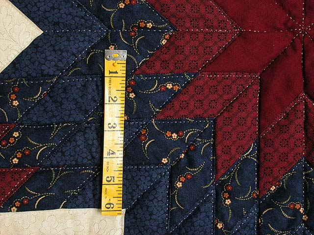 Navy and Burgundy Lone Star Quilt Photo 3