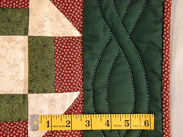 Green and Red Churn Dash Wall Hanging Photo 4