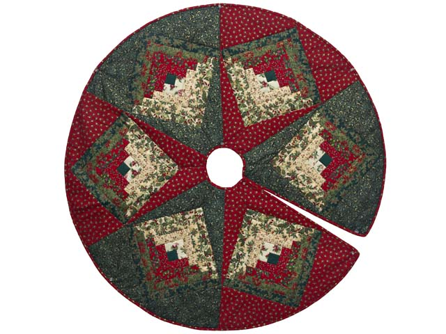 Lone Star Log Cabin Christmas Tree Skirt Photo 1