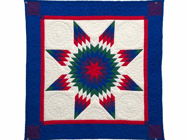 Miniature Indiana Amish Eden Lone Star Quilt Photo 1
