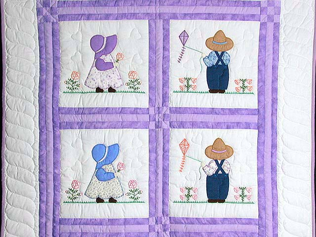 Amish Children Crib Quilt Photo 2