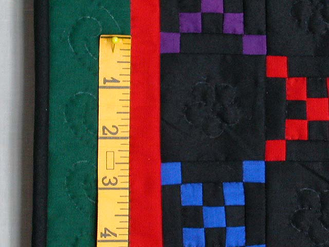 Mini Green and Red Double Nine Patch Quilt Photo 3