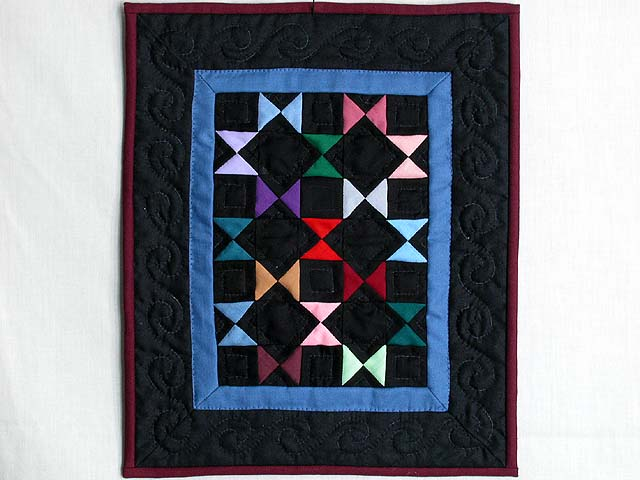 Mini Black and Blue Bow Ties Quilt Photo 1