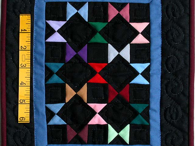 Mini Black and Blue Bow Ties Quilt Photo 2