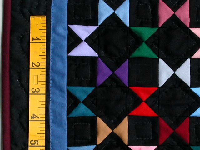 Mini Black and Blue Bow Ties Quilt Photo 3