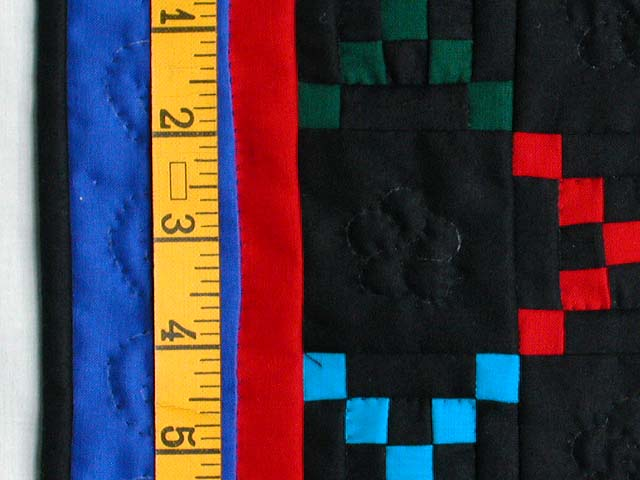 Mini Blue and Red Double Nine Patch Quilt Photo 3