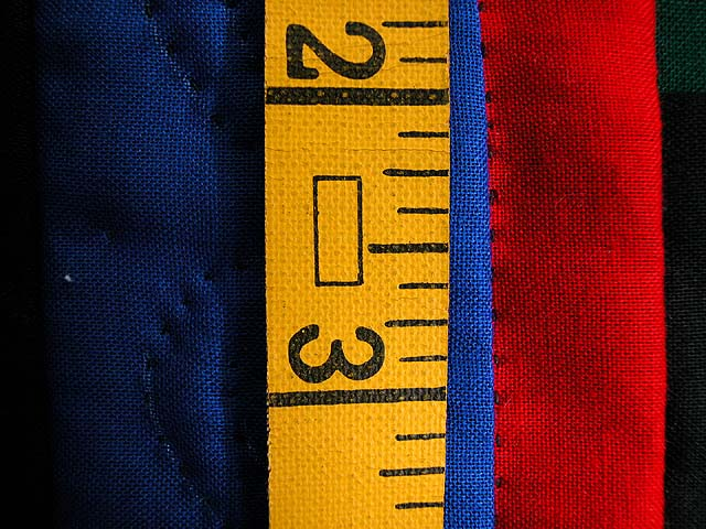 Mini Blue and Red Double Nine Patch Quilt Photo 4