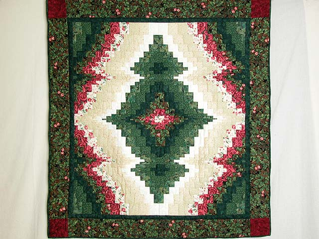 Red and Green Reflections Bargello Wall Hanging Photo 1