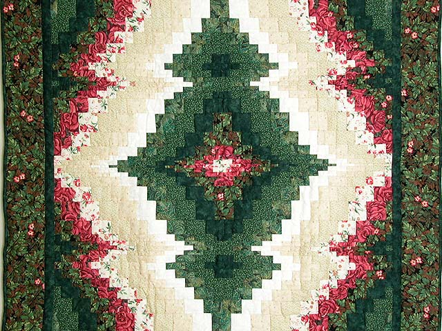 Red and Green Reflections Bargello Wall Hanging Photo 2