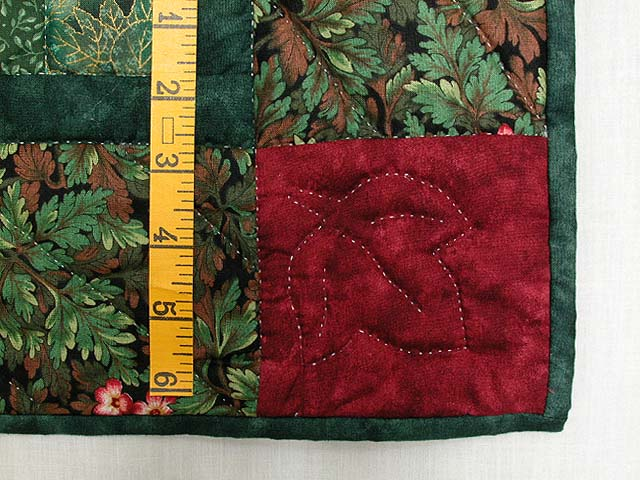 Red and Green Reflections Bargello Wall Hanging Photo 6