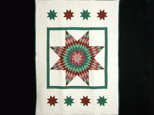 Green and Red Constellation Lone Star Throw Photo 1