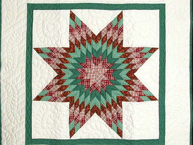 Green and Red Constellation Lone Star Throw Photo 2
