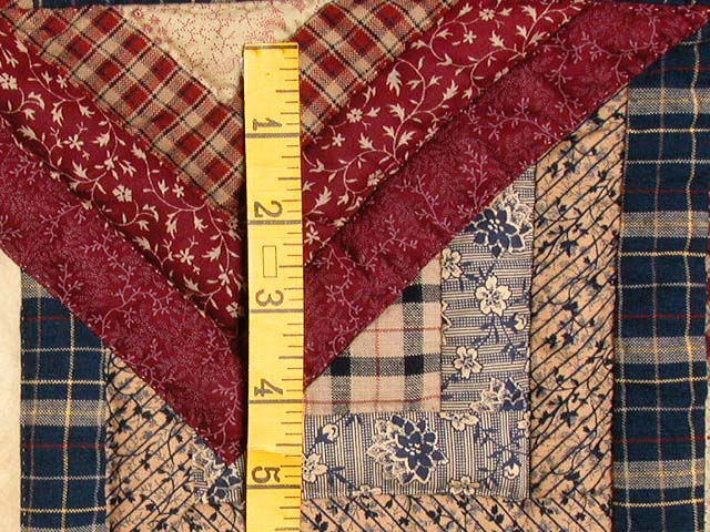 Burgundy Navy and Tan Star Spin Wall Hanging Photo 4
