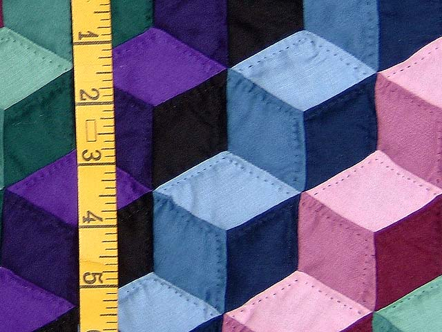 Amish Tumbling Blocks Wall Hanging Photo 4