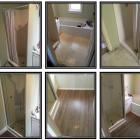 Bathroom floor and shower door