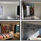 Wallpapered kids bedrooms