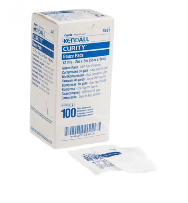 3381 covidien covidien 3381 curity sterile latex free gauze pads