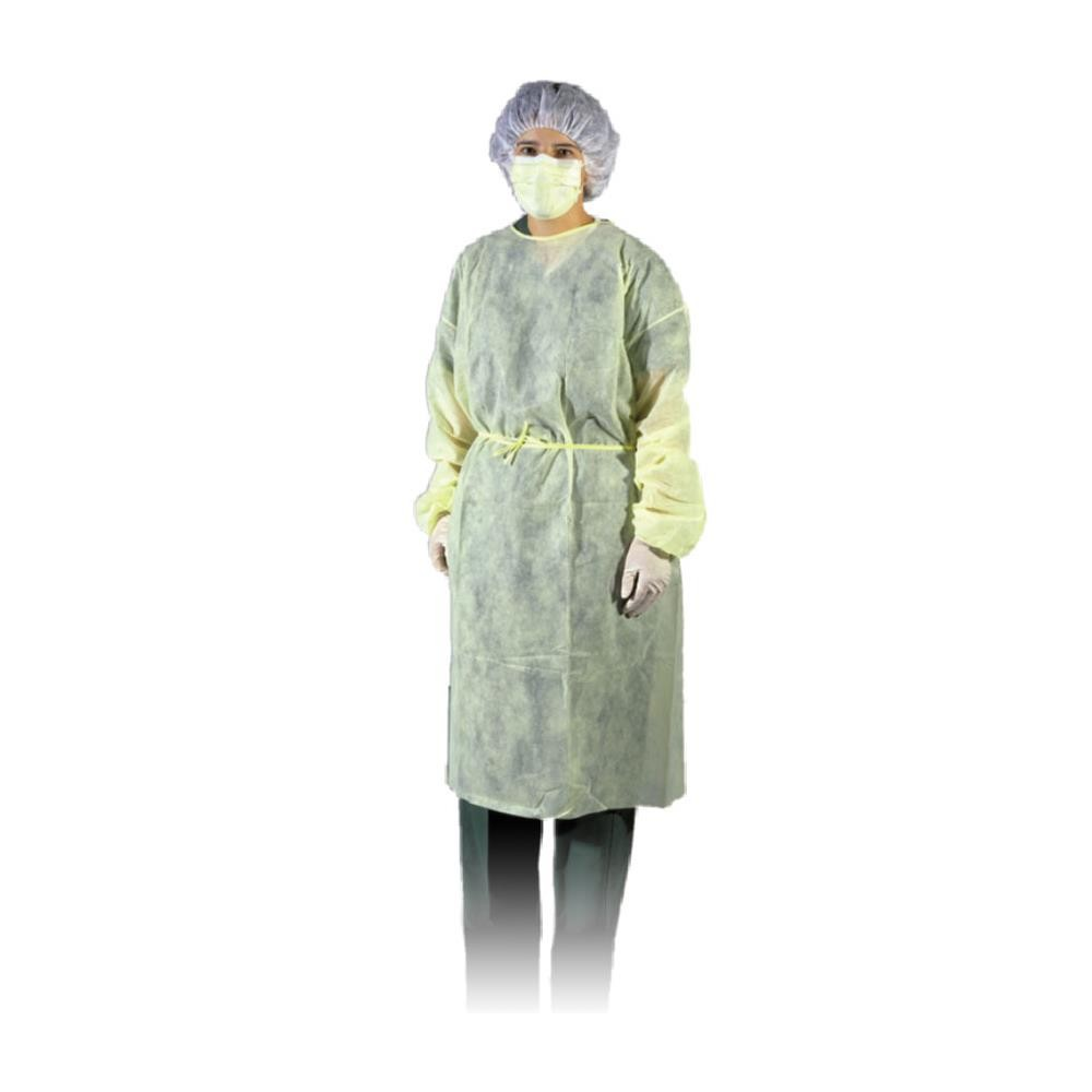 Isolation Gown, AMD-Ritmed 8009, Regular, Yellow, 10/Bg, 5 Bg/cs