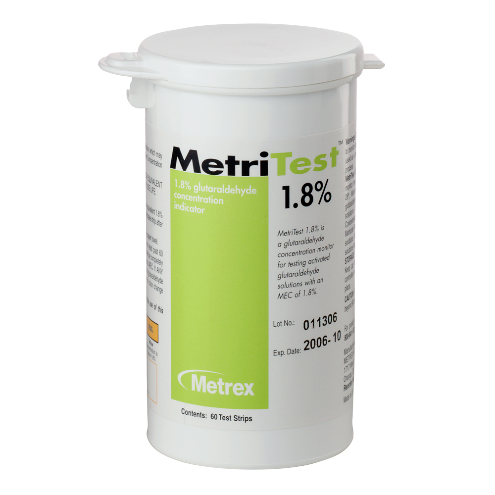 Strips Bottle Metrex Research Corporation Metritest 18 For 28 Day Use Life 60 2 Btl Cs