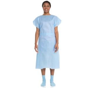 69766 Halyard, Gown, HALYARD, Patient, Blue, 10/Bg, 10 Bg/cs