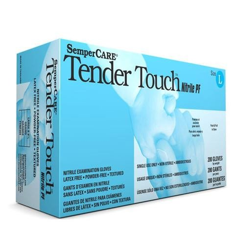 Exam Glove, Sempermed USA TTNF203, Nitrile, Medium, Powder Free (pf), Beaded Cuff