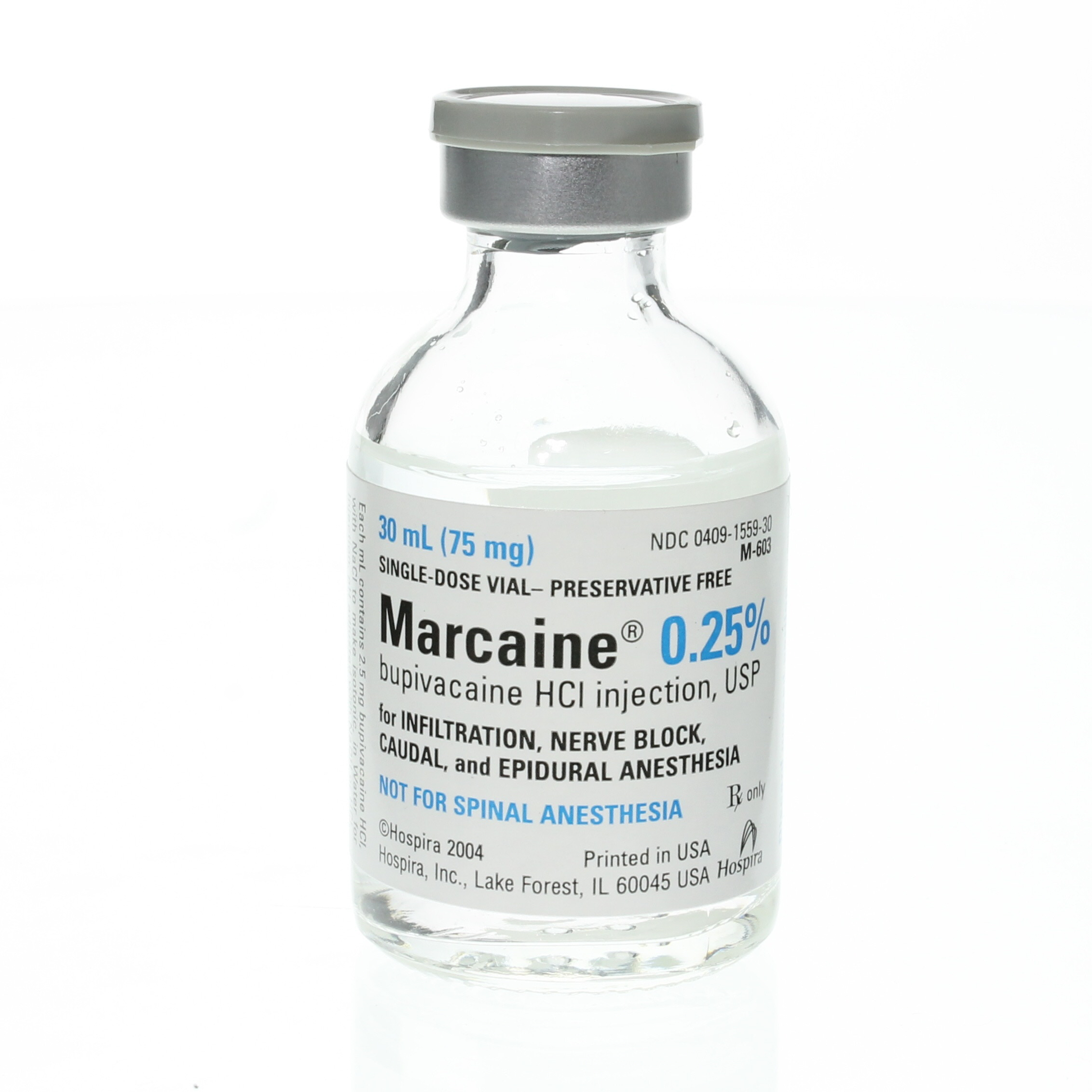 Hospira Worldwide, 155930, Marcaine Injection .25% 30ml