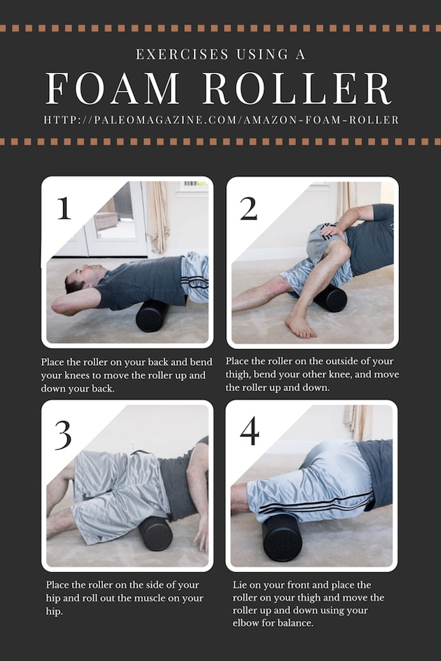 4 Exercises Using A Foam Roller from paleo living magazine