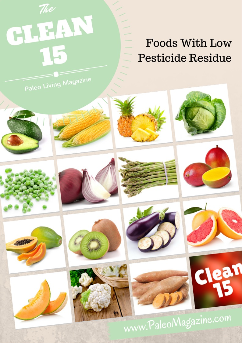 clean 15 organic foods infographic