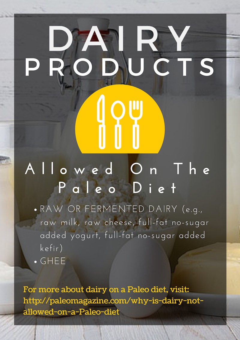 dairy products allowed on a Paleo diet