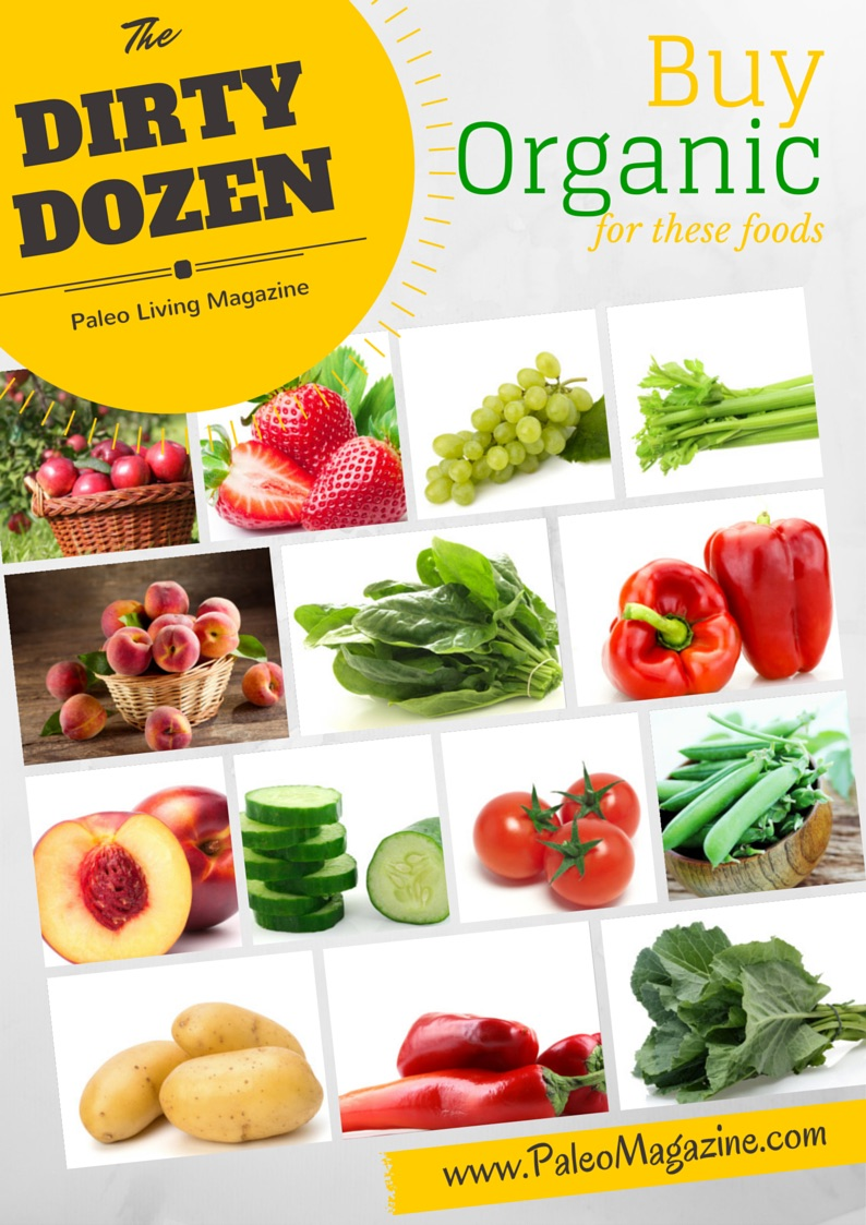 dirty dozen organic foods infographic