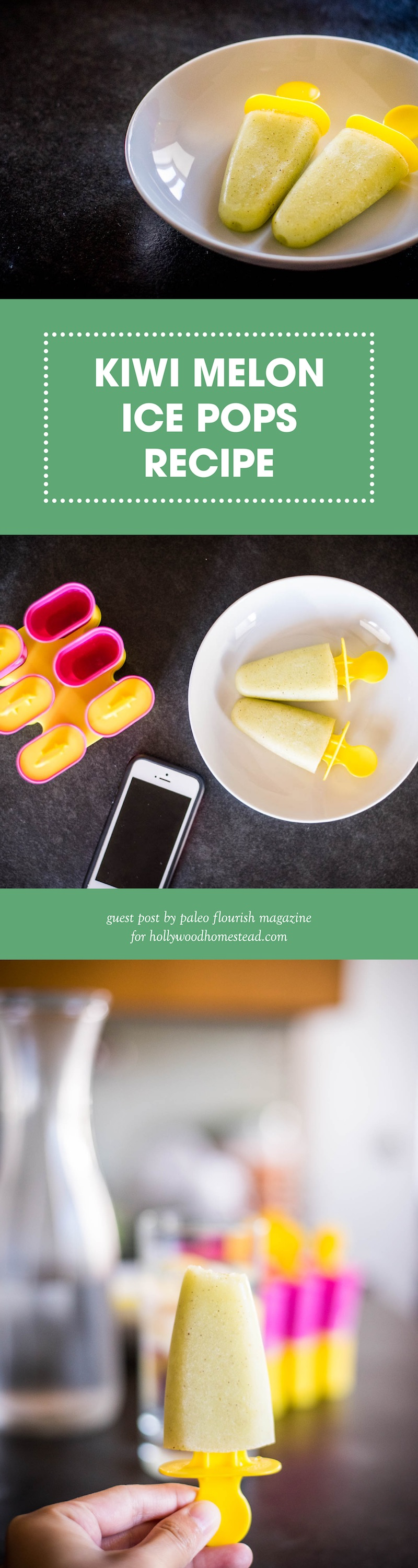 Kiwi Melon Ice Pops Recipe Paleo AIP
