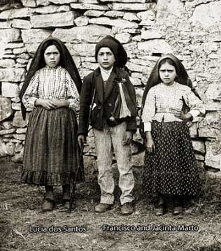 The 3 children Our Lady of Fatima appeared to.