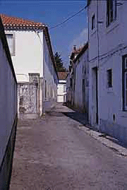 The alley through which the woman carried the host