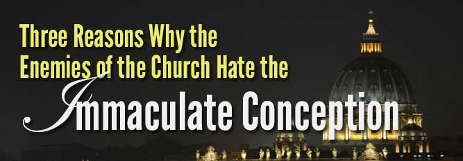 Header-3 reasons why the enemies of the Church hate the Immaculate Conception