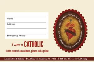 FREE Sacred Heart Badge & Key Chain