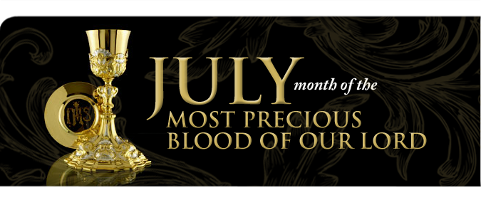 Month Of July Most Precious Blood Our Lord Jesus Christ FREE Wallpapers