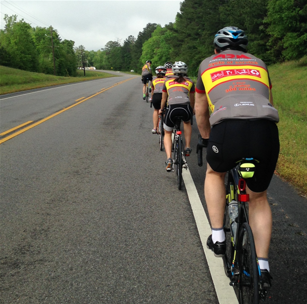 Bicyclists Preparing to Ride 300 Miles Across Alabama