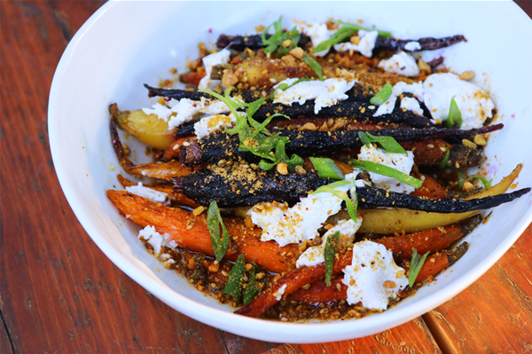 The Hound's Roasted Carrots with Mama Sue's Pepper Jelly, Burrata & Pistachio Recipe