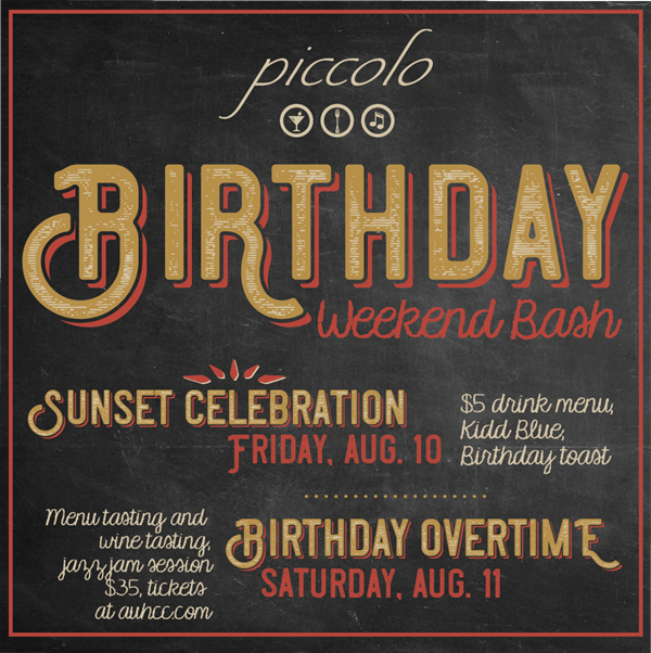 Piccolo Celebrates Ninth Birthday with a Weekend of Events