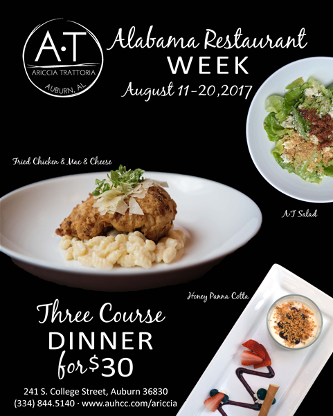 Ariccia Trattoria Participating in 2017 Alabama Restaurant Week